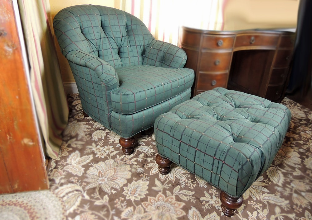 Sherrill Chair And Ottoman ...