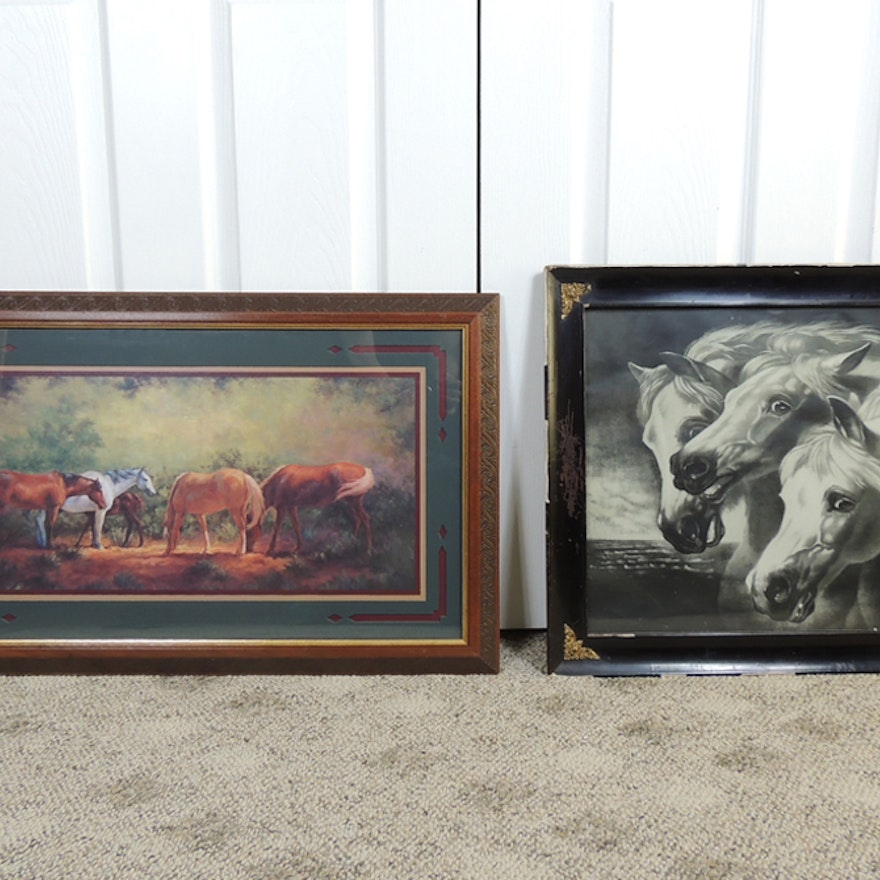 Framed Horse Art : EBTH