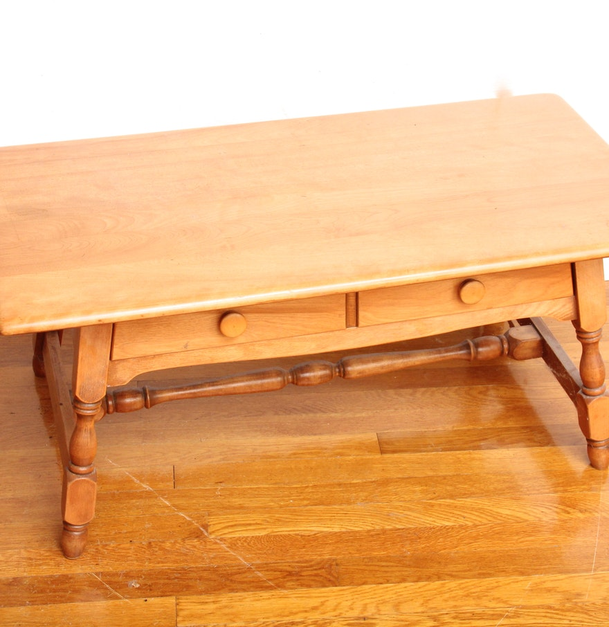 Heywood Wakefield Maple Coffee Table Ebth