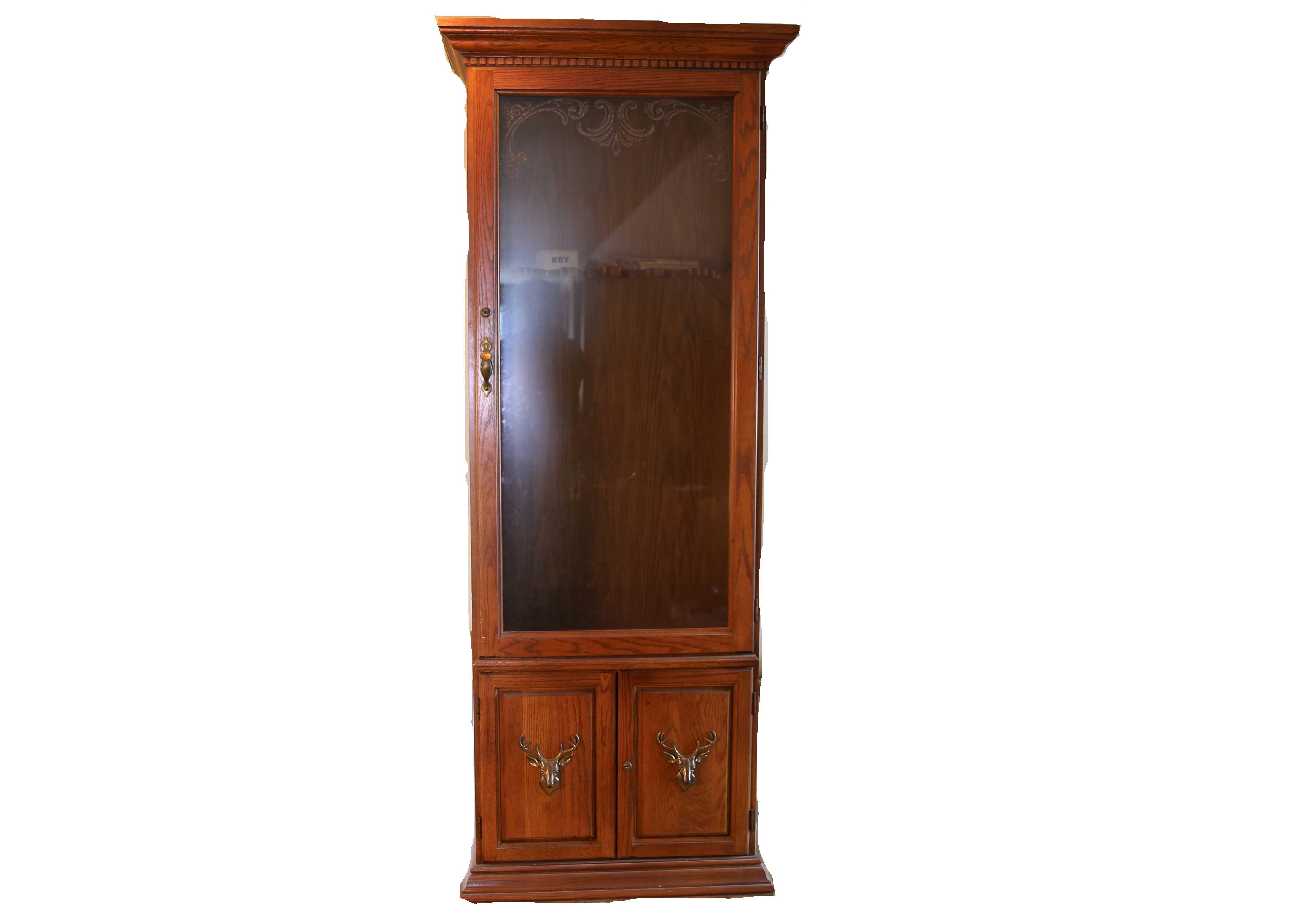 Oak Pulaski Furniture Gun Cabinet : EBTH
