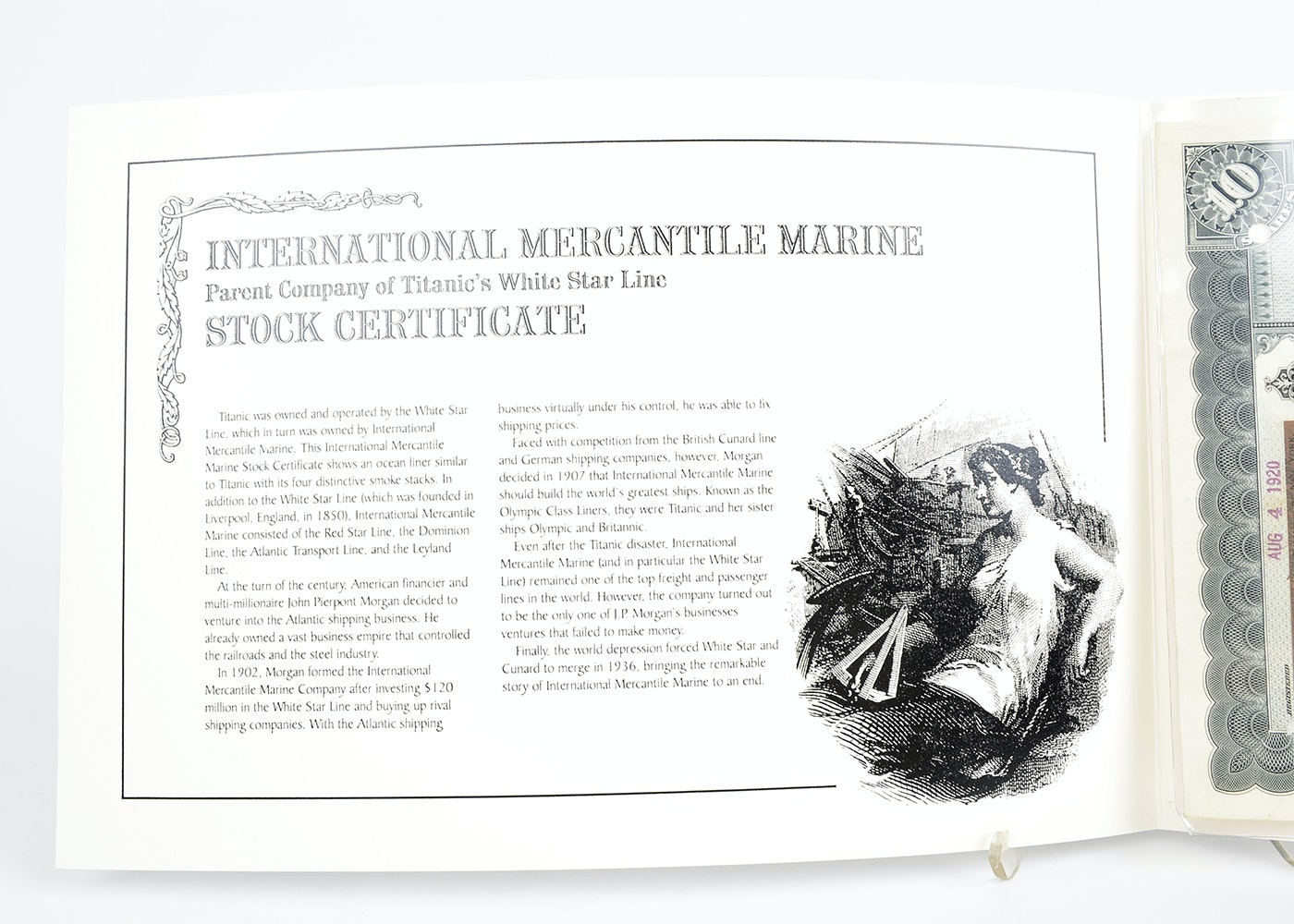 International Mercantile Marine Stock Certificate : EBTH