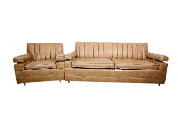 Sleeper Sofa And Matching Armchair Ebth