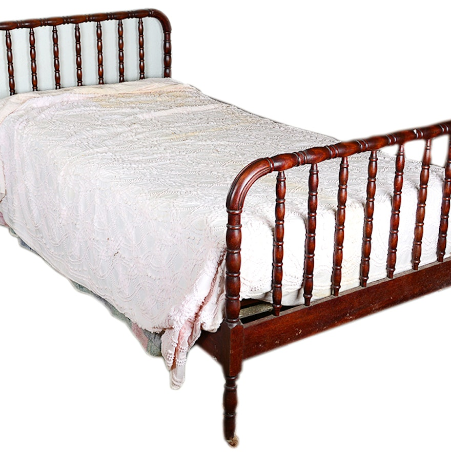 Twin size wooden bed frame ebth for Twin size wood bed frame