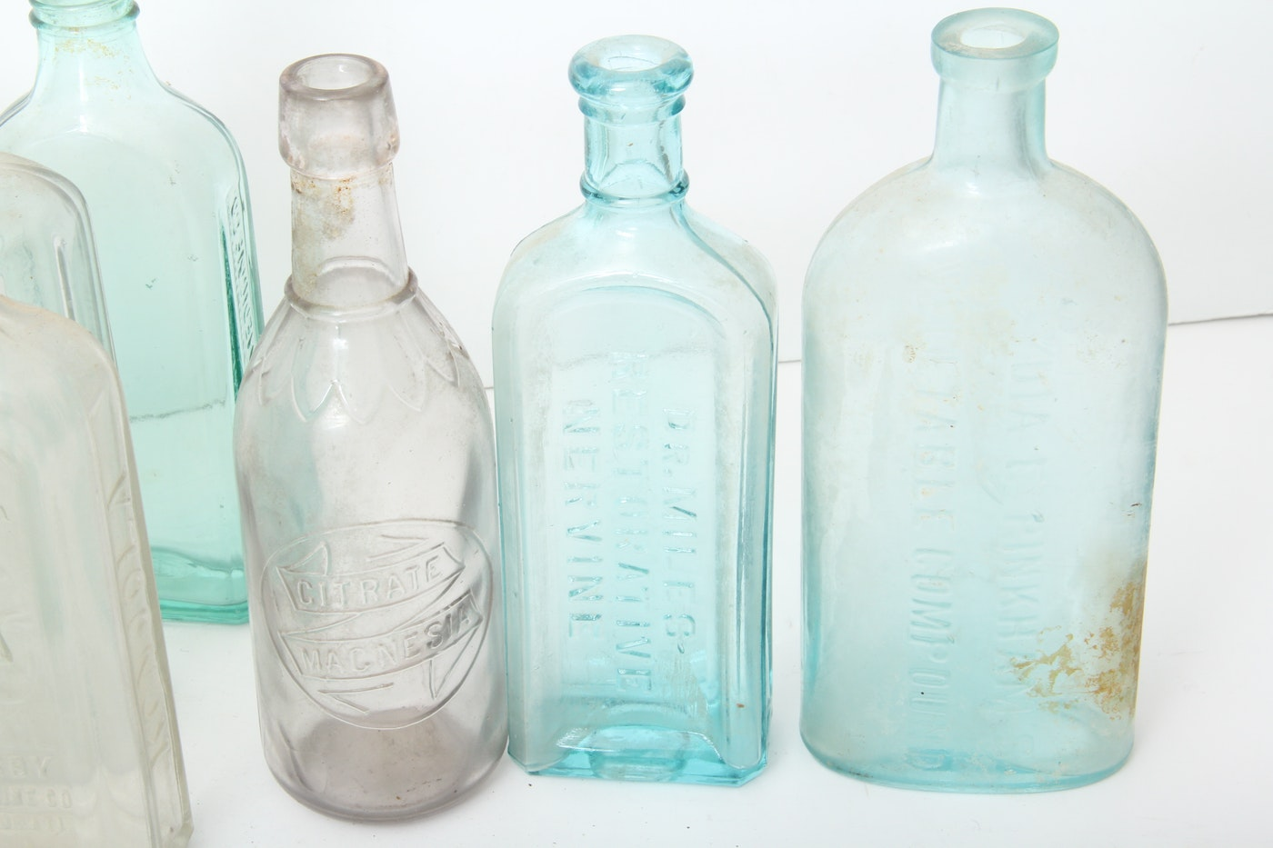 Antique and vintage glass bottles ebth for Retro glass bottles
