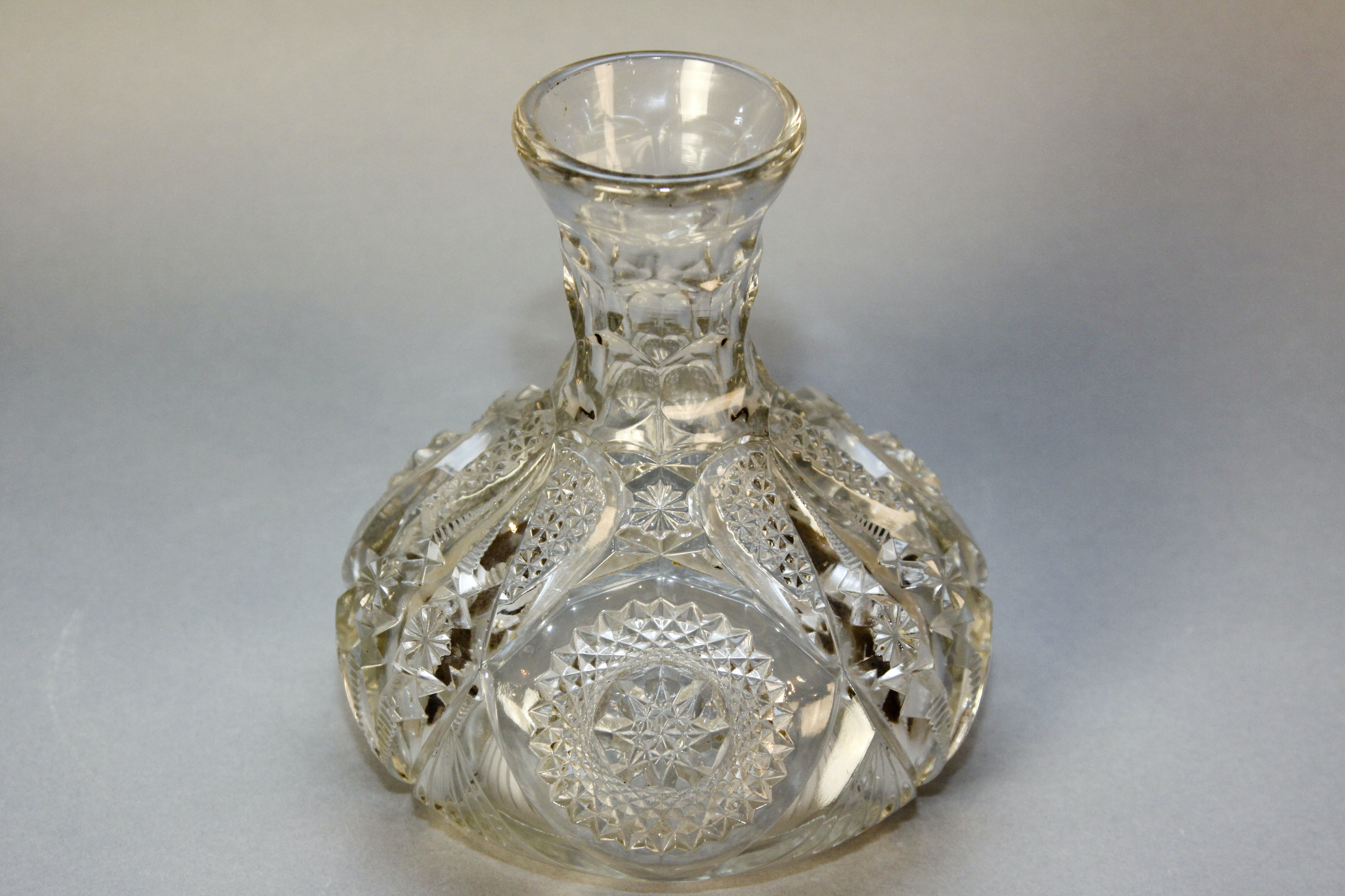 Vintage Pressed Glass Wine Decanter And Punch Glasses Ebth