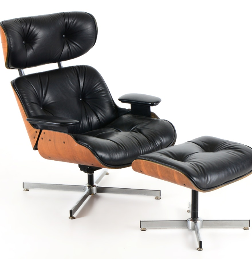 Selig chair and ottoman - Selig Manufacturing Co Eames Style Chair And Ottoman