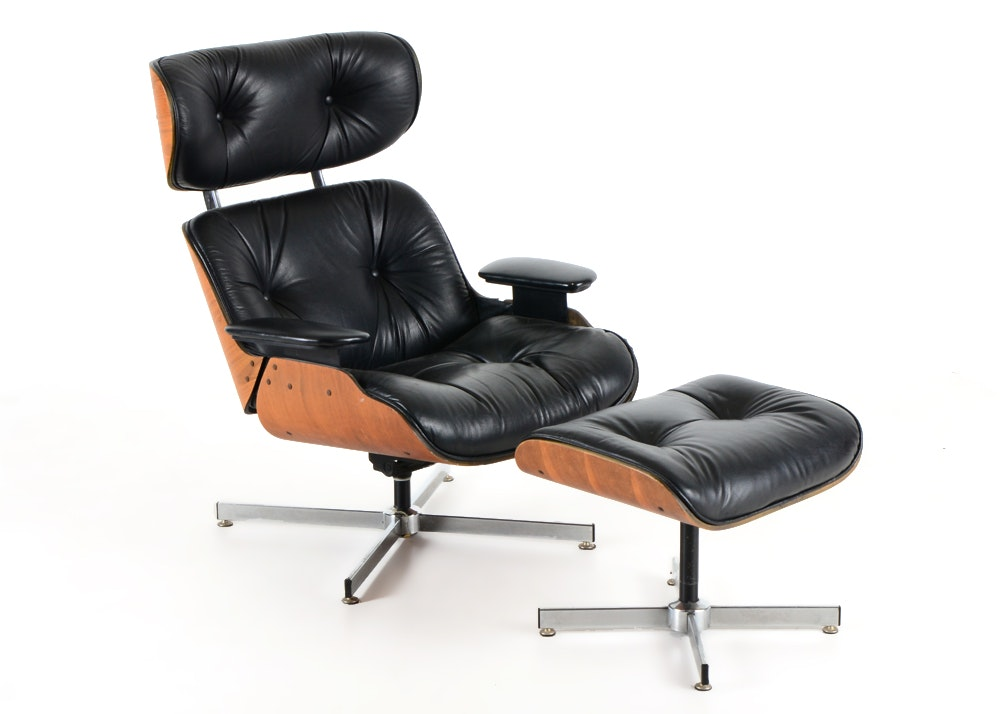 Selig Manufacturing Co. Eames Style Chair And Ottoman
