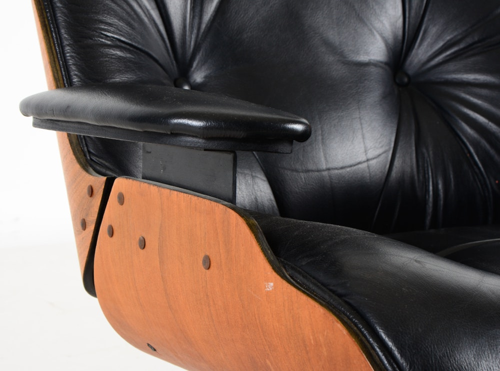 Selig Manufacturing Co Eames Style Chair And Ottoman Ebth