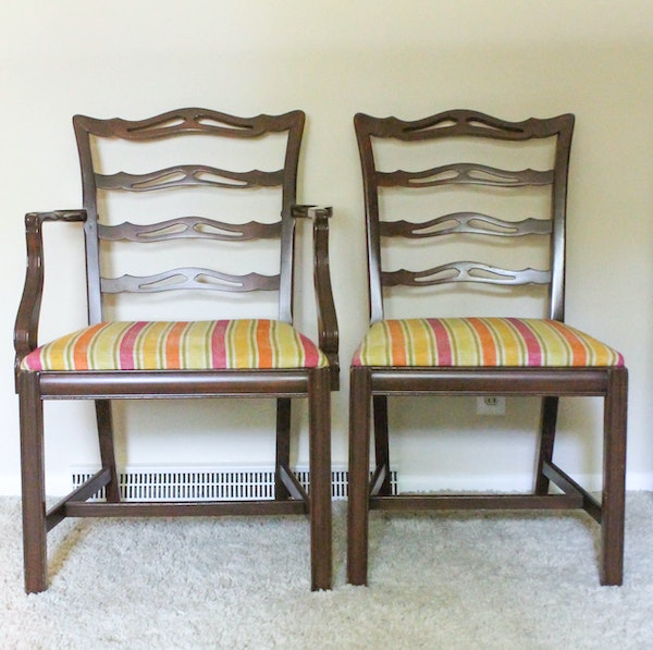 Marlborough Dining Set: Set Of Chippendale Style Ladder-Back Dining Chairs : EBTH