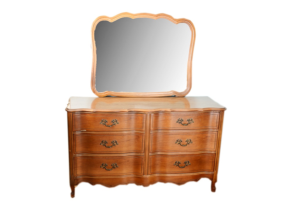 French Provincial Style Bassett Furniture Vanity Dresser ...