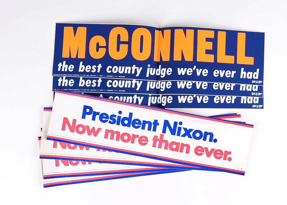 Vintage political bumper stickers
