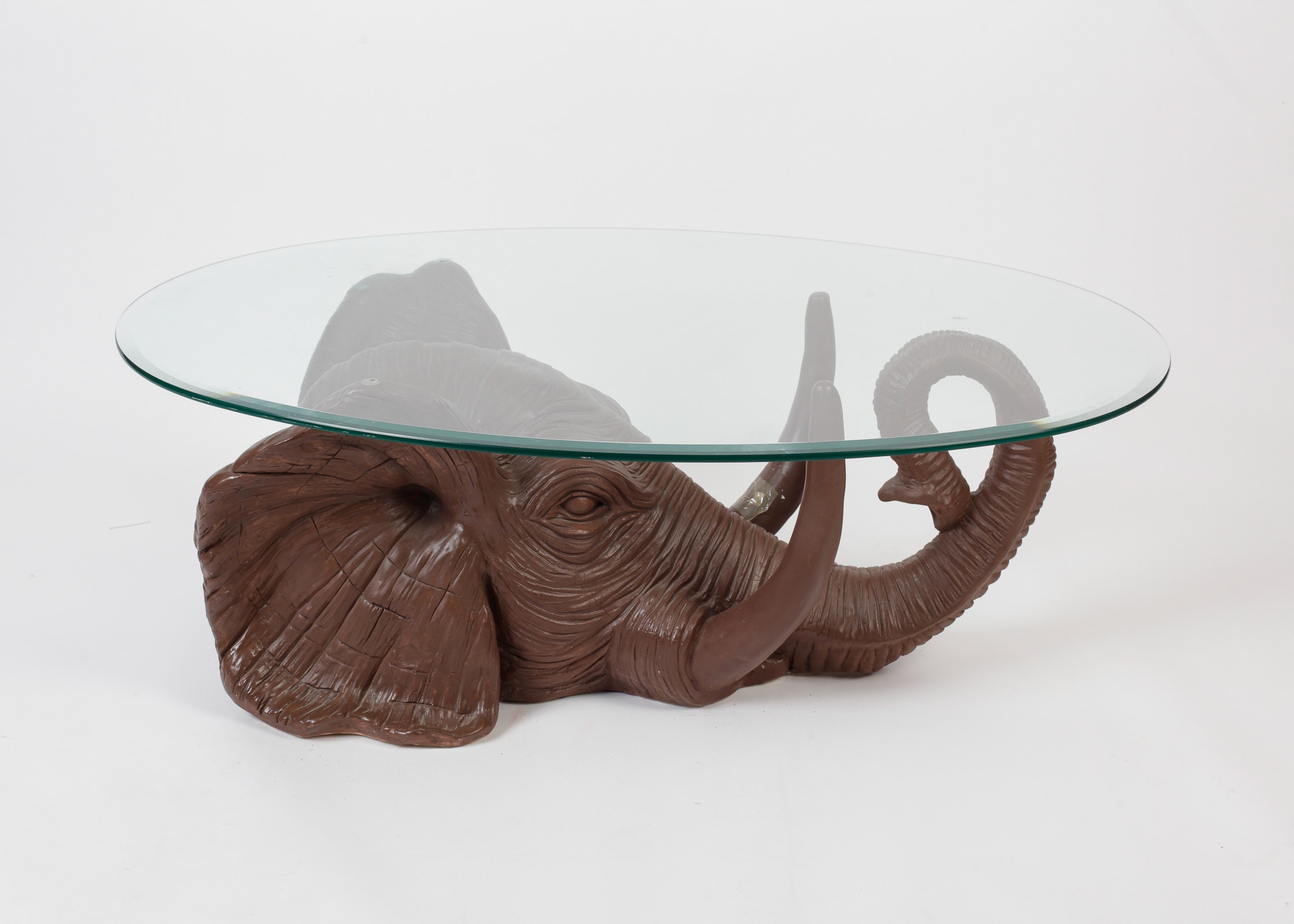 Ordinary Elephant Coffee Table Glass Top Part 3 Dark Brown