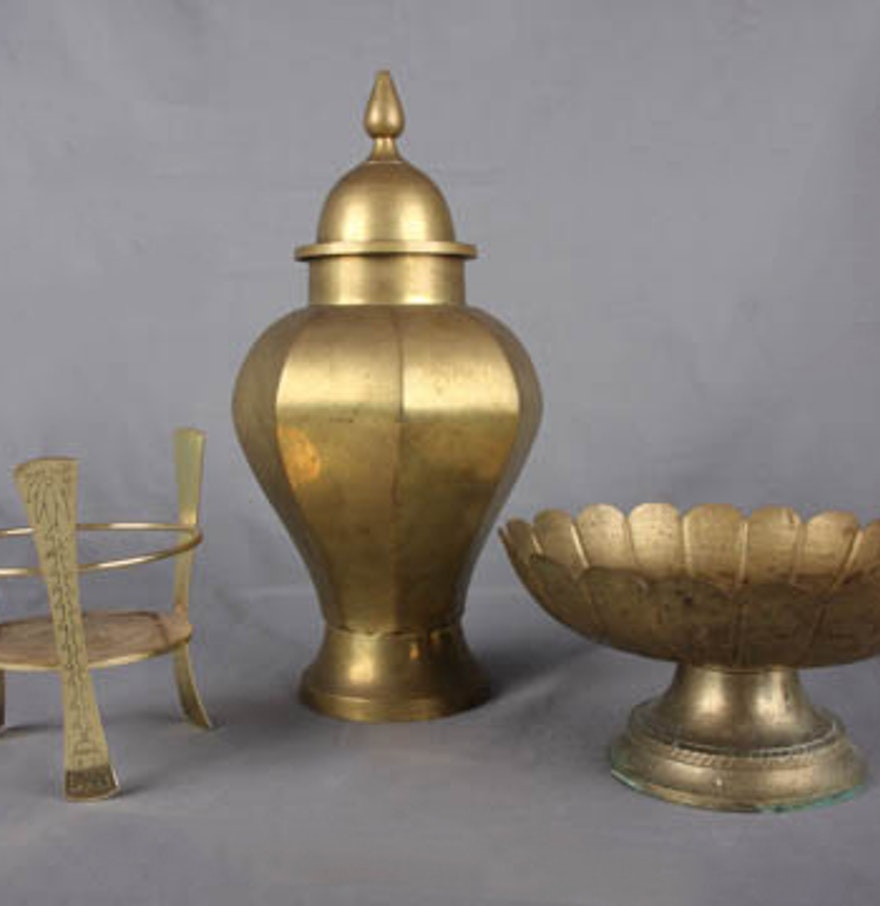 Trio of brass decor ebth