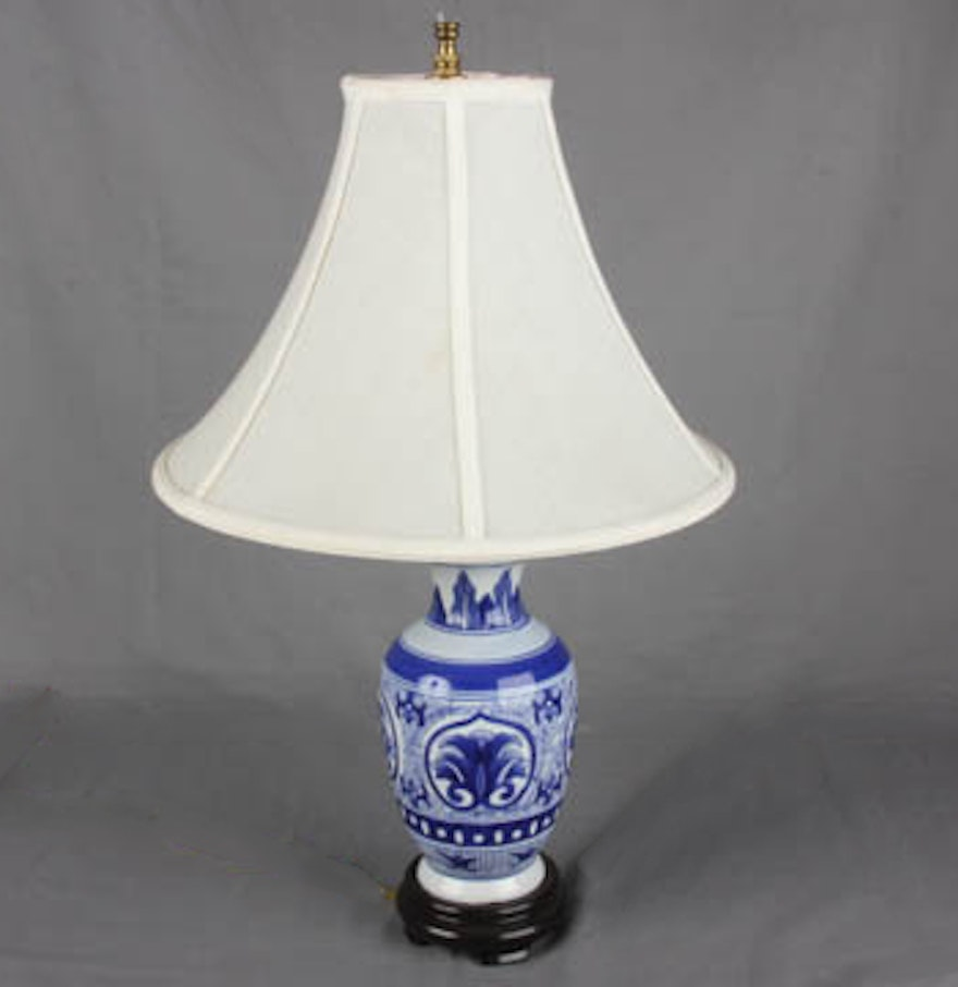 blue and white table lamp ebth. Black Bedroom Furniture Sets. Home Design Ideas