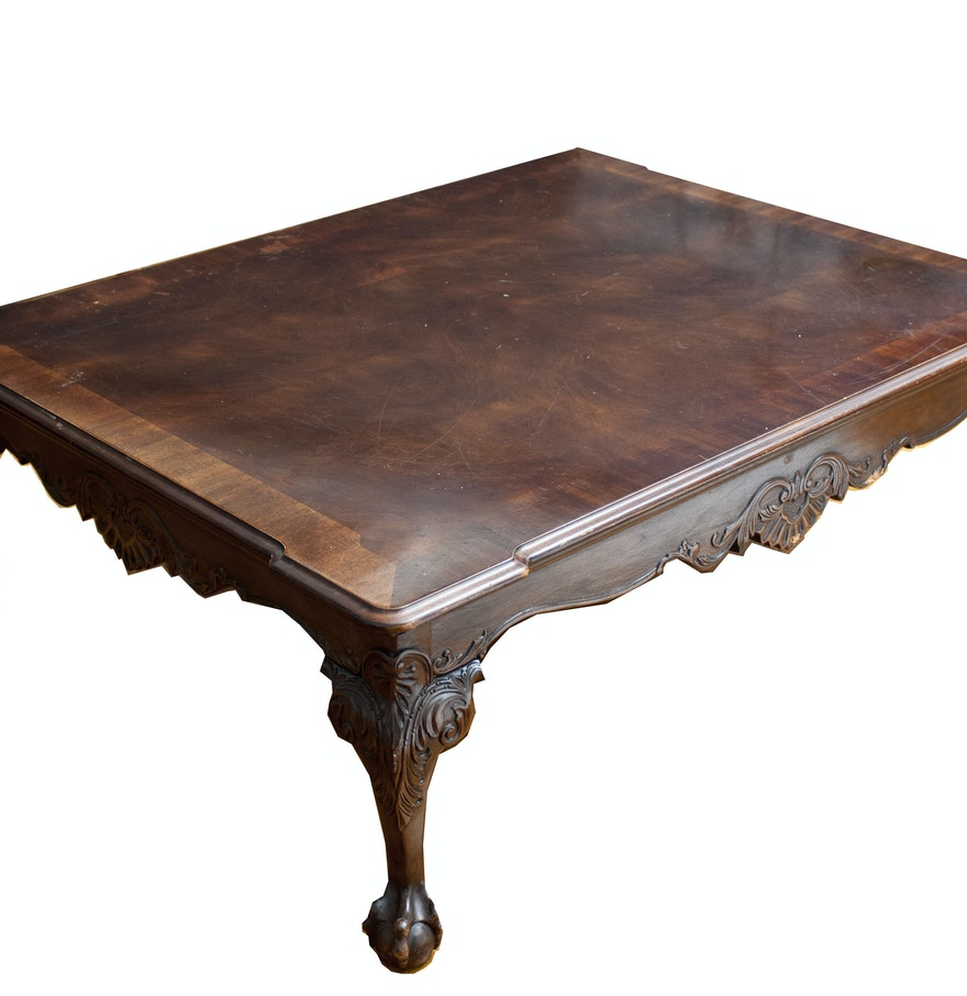 Ornate wooden coffee table ebth ornate wooden coffee table geotapseo Gallery