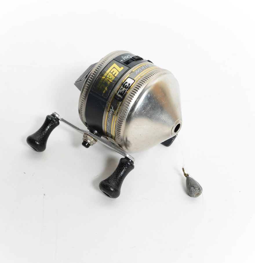 Zebco push button fishing rell ebth for Push button fishing reel