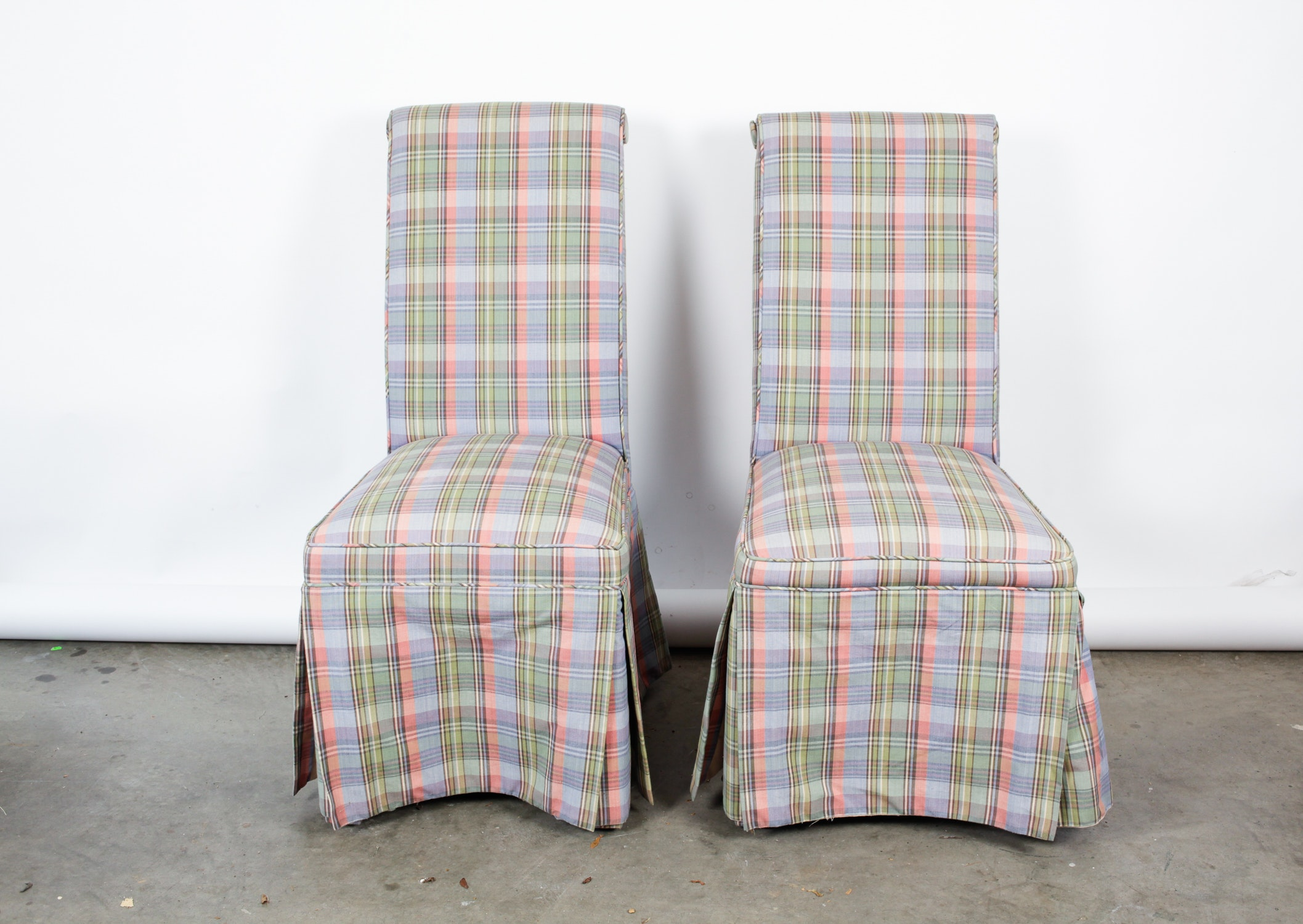 Slipcovers For Queen Anne Chairs Pair of Side Chairs : EBTH