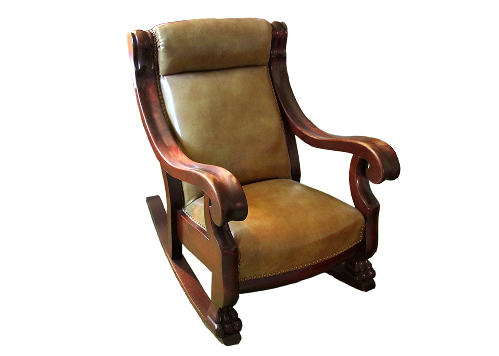 Empire Style Cherry Rocking Chair
