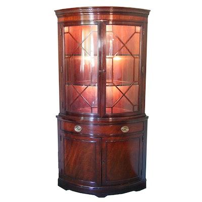 Curved Corner Cabinet by Drexel - Online Furniture Auctions Vintage Furniture Auction Antique