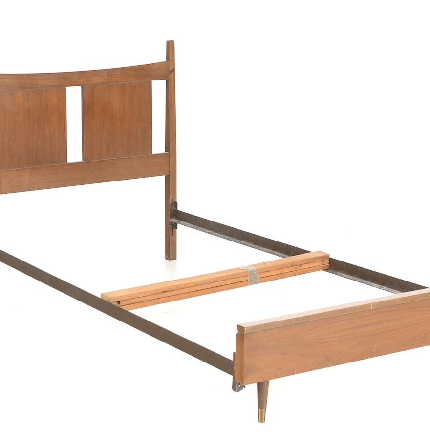 mid century modern twin bed frame  ebth - mid century modern twin bed frame