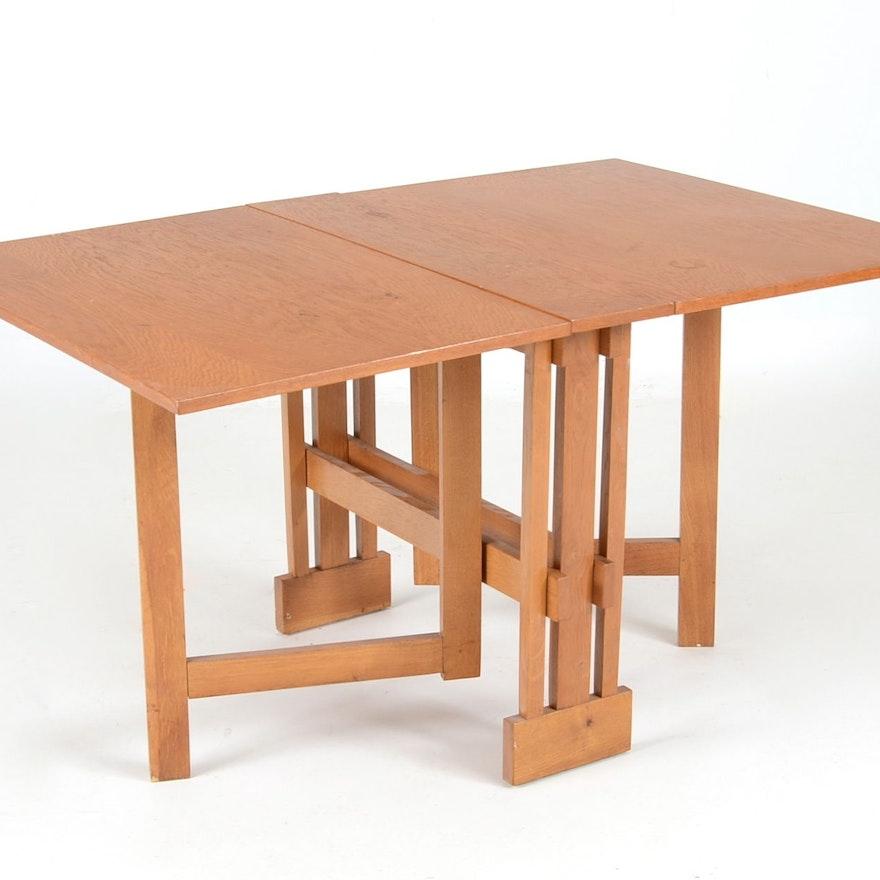 Mid Century Modern DropLeaf GateLeg Table EBTH - Mid century modern gateleg table