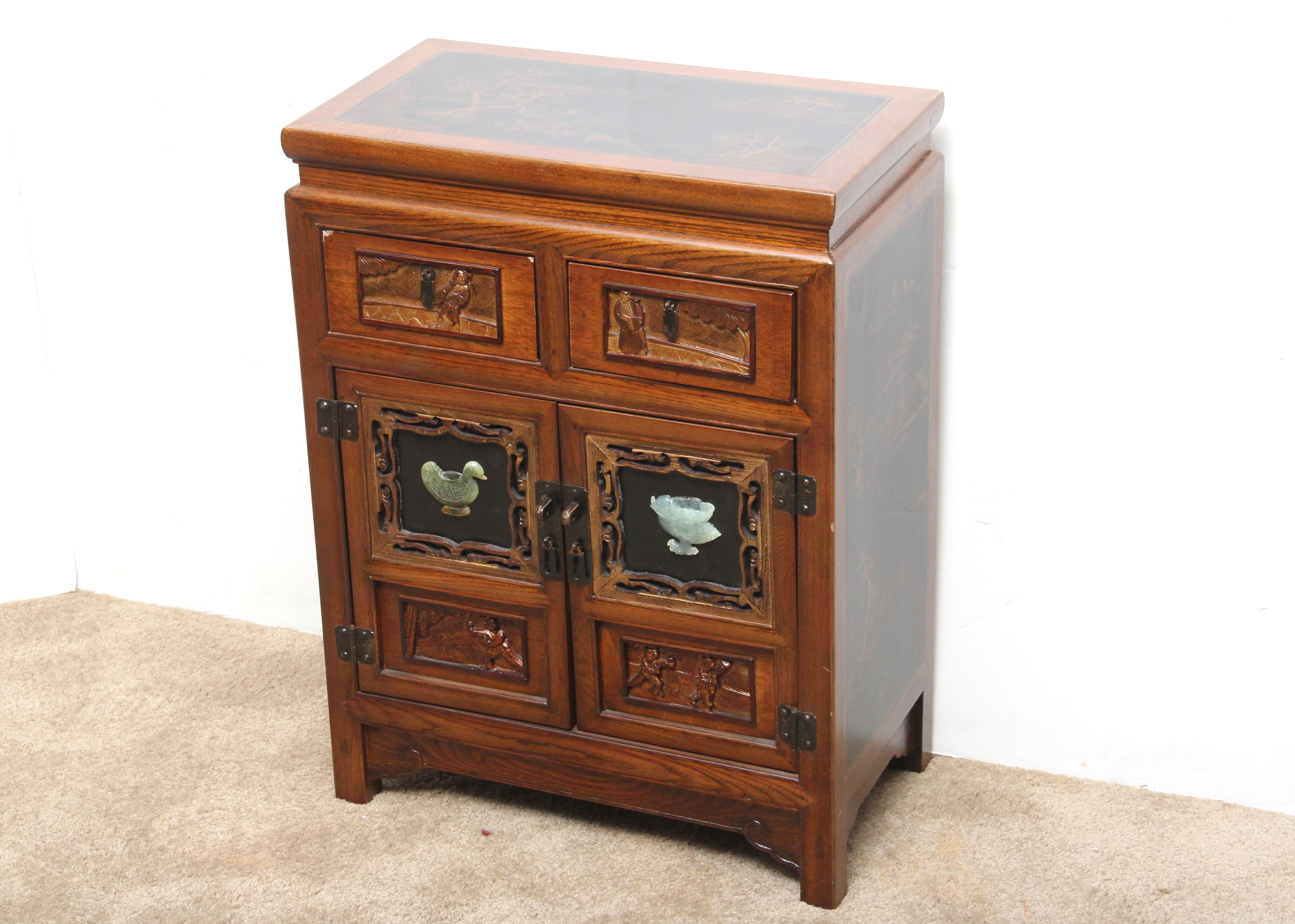 Small Asian Inspired Cabinet