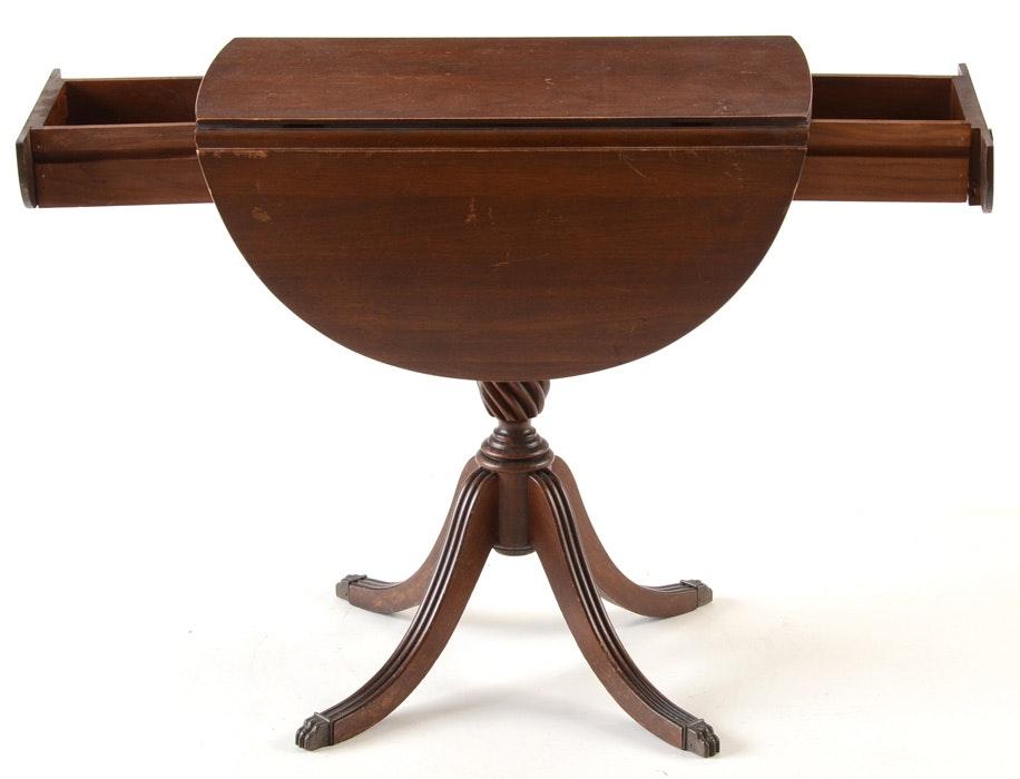 Small duncan phyfe style drop leaf table ebth - Drop leaf table small space style ...