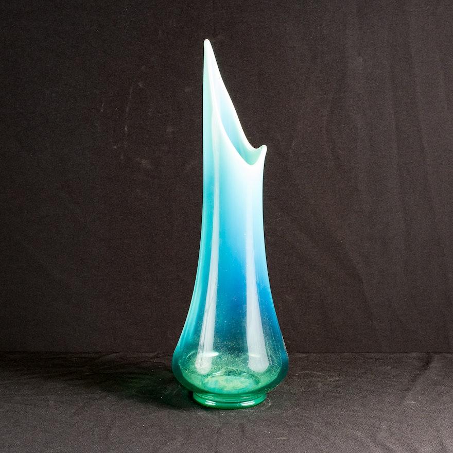 21 Mid Century Viking Glass Stretch Vase Ebth