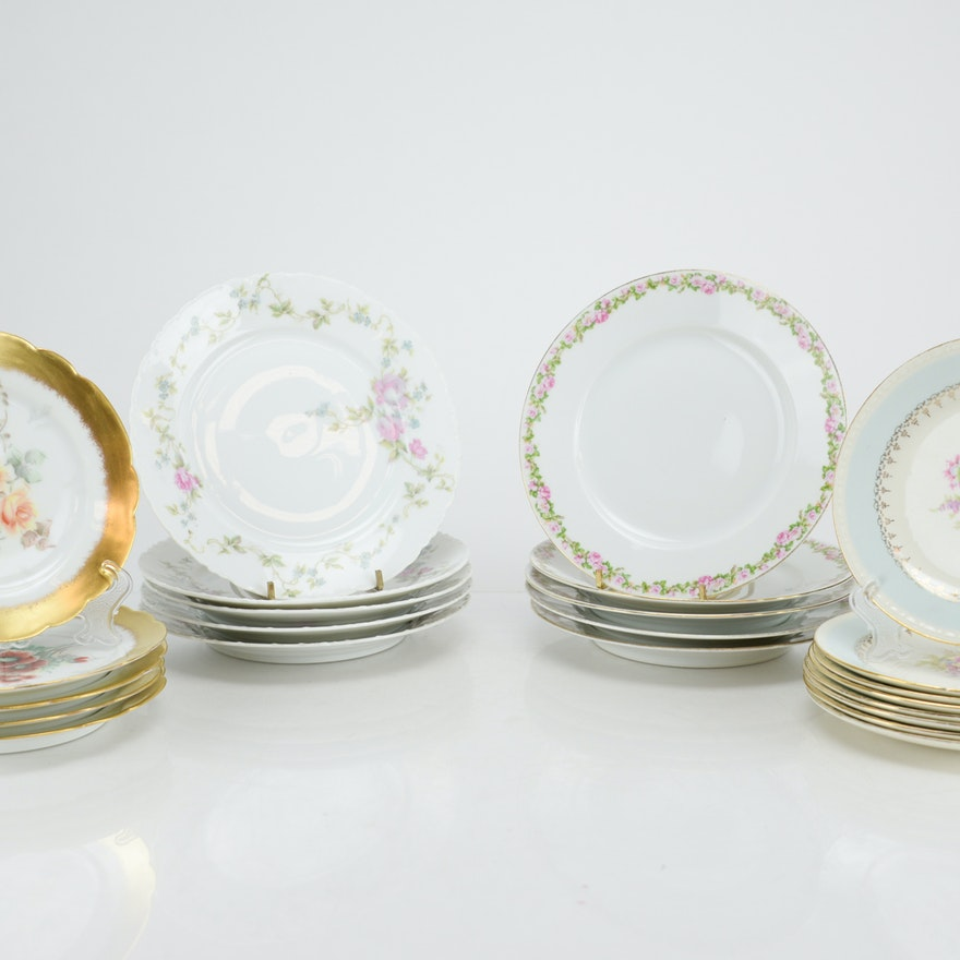 Collection of Vintage China Serving Plates