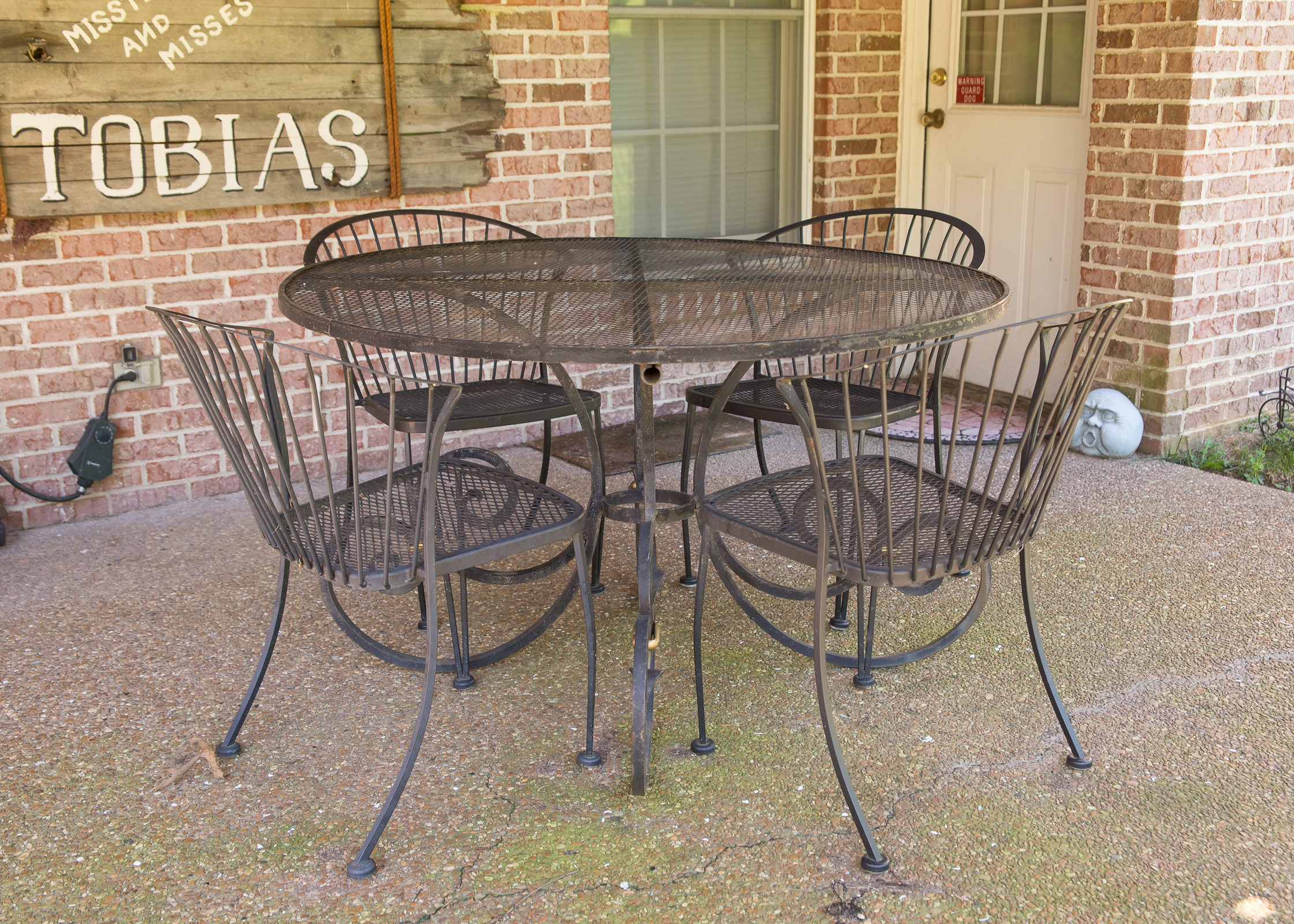 iron patio table and chairs ebth