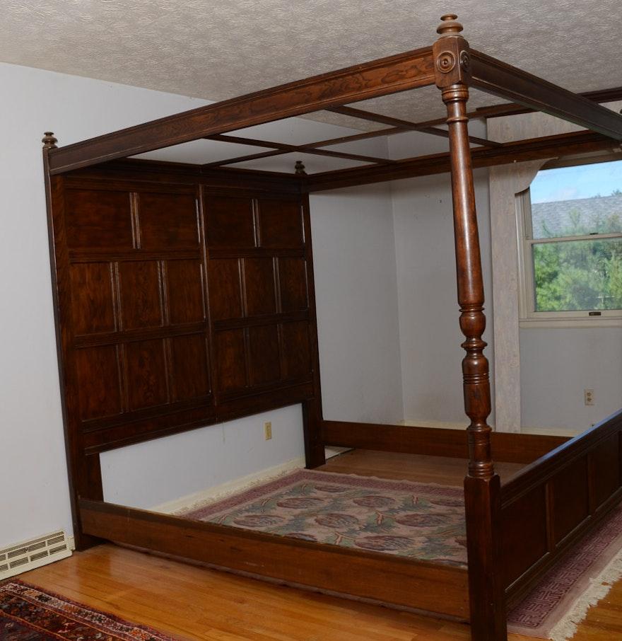Vintage Henredon King Canopy Bed Ebth