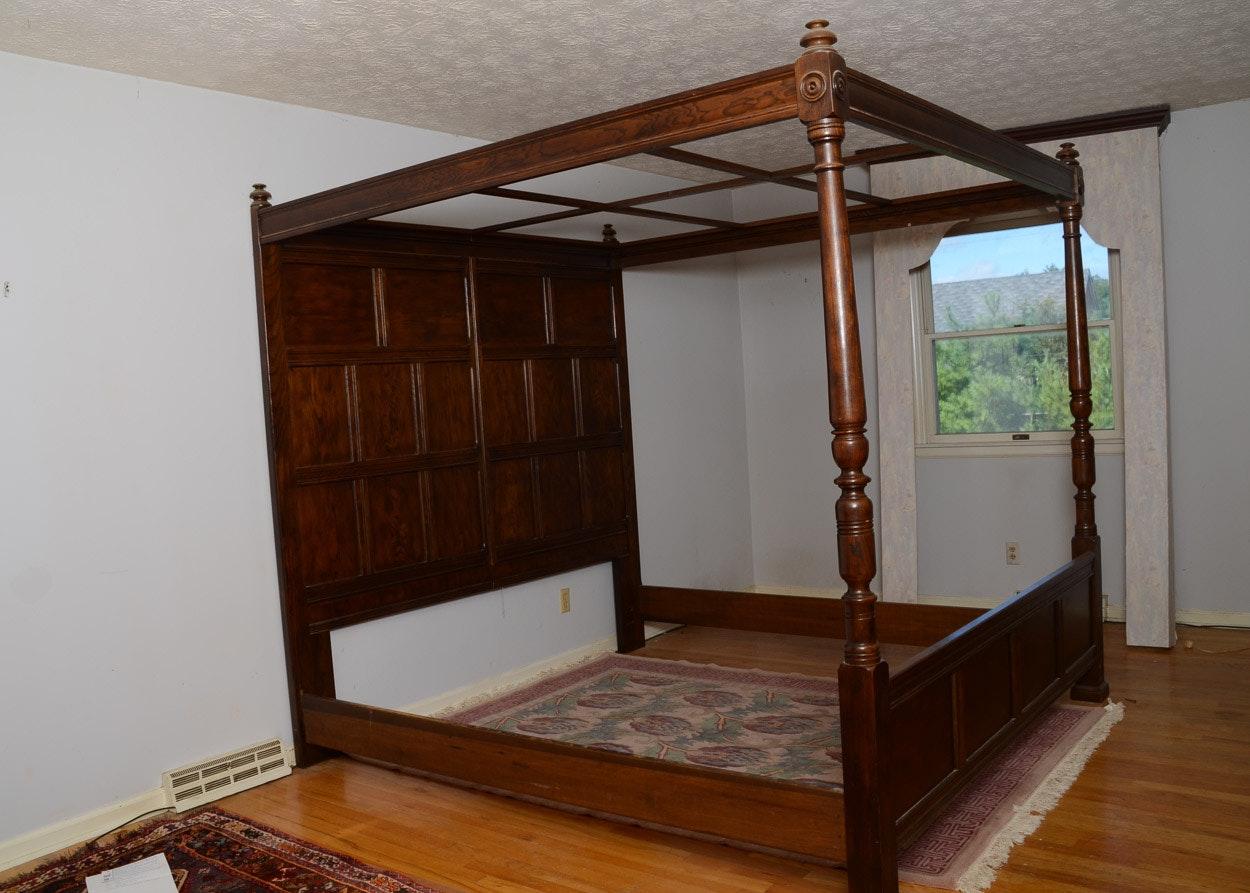 Vintage Henredon King Canopy Bed ... & Vintage Henredon King Canopy Bed : EBTH