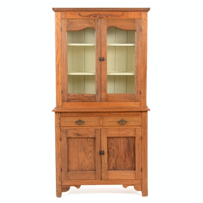 Antique Oak China Hutch - Vintage And Antique Cabinets Auction In Cincinnati, Ohio Antiques