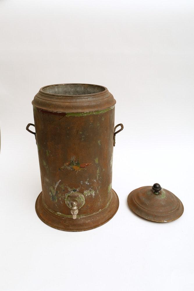 Insulated Antique Beverage Dispenser Ebth