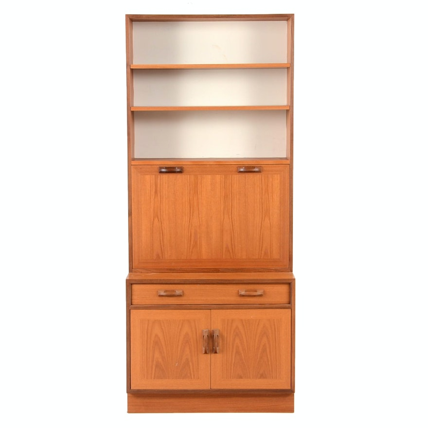 Danish Modern Secretary Desk On Cabinet