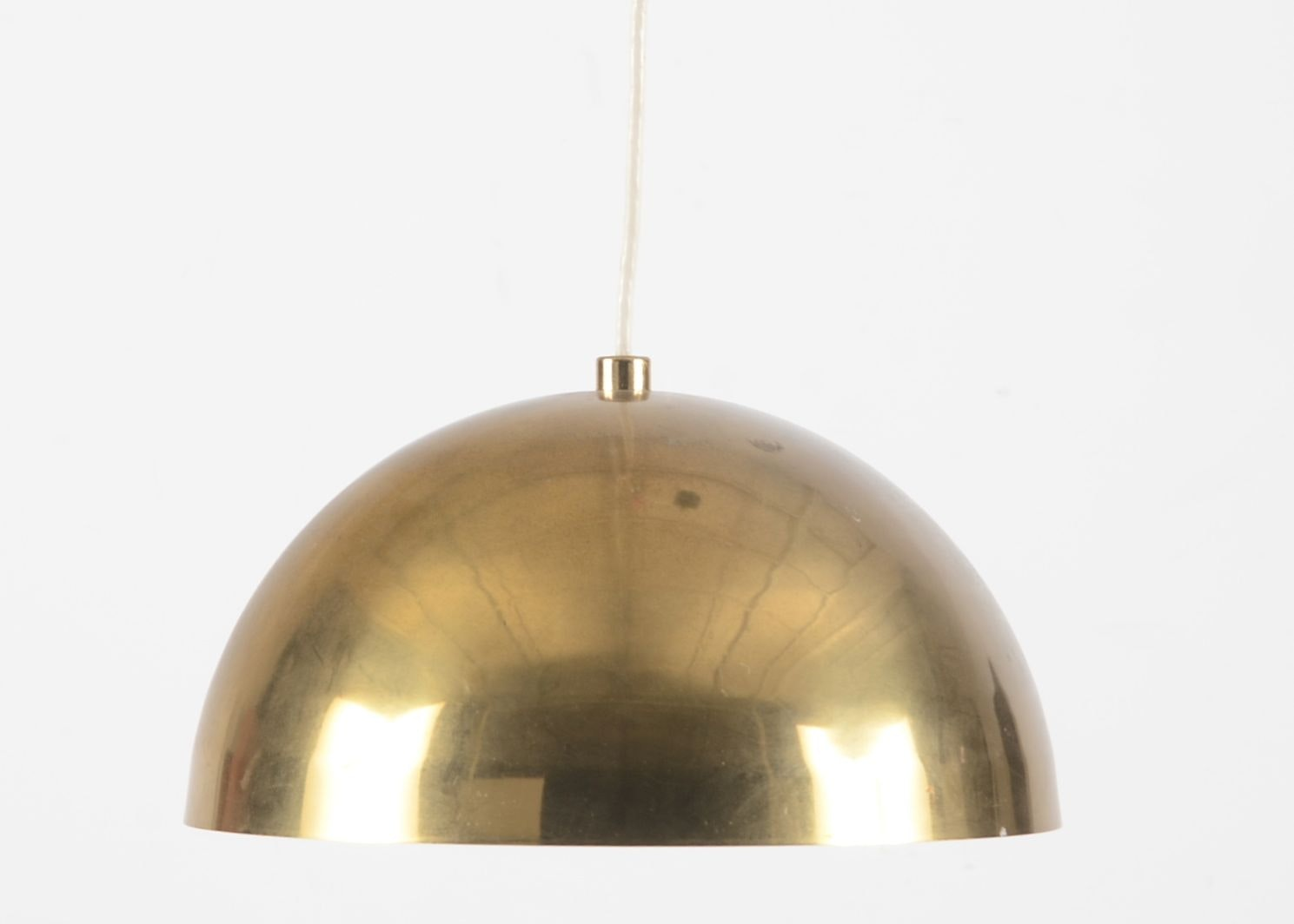 Brass Tone Dome Light Fixture ...