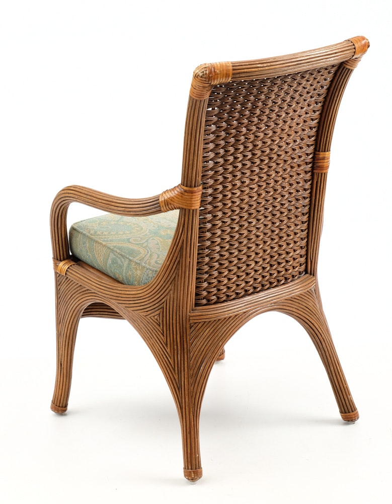 rattan and wicker side chair ebth. Black Bedroom Furniture Sets. Home Design Ideas