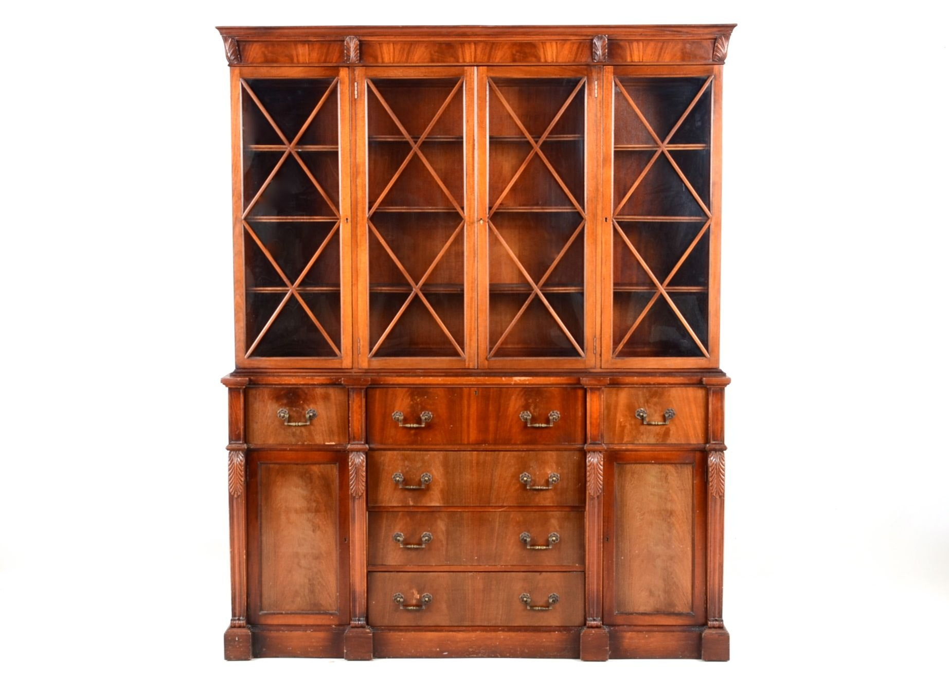 ... Saginaw Furniture Shops History By 1940 Regency Style Mahogany Two Part  China Cabinet Ebth ...