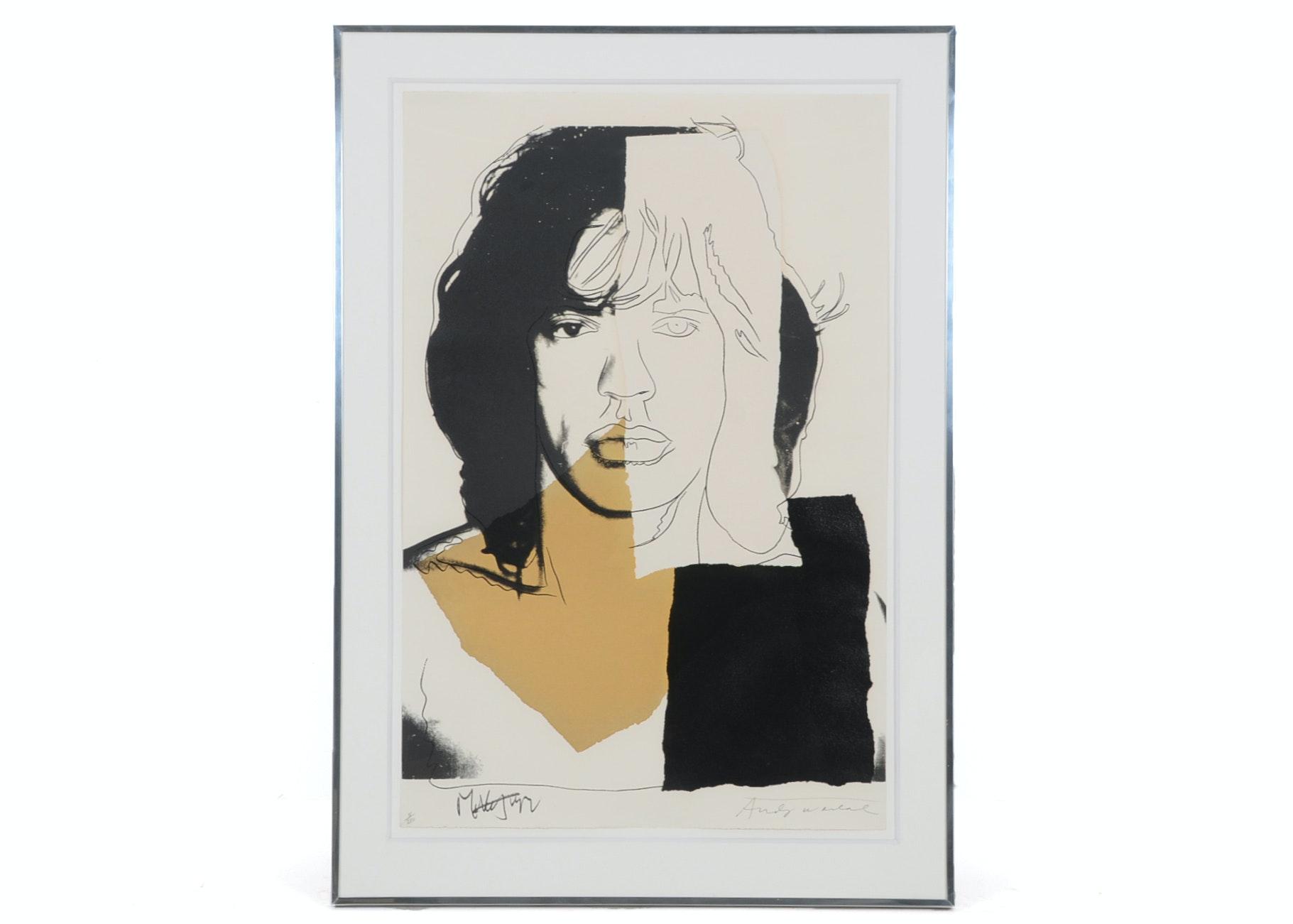 "Andy Warhol ""Mick Jagger II 146"" Original Silkscreen"