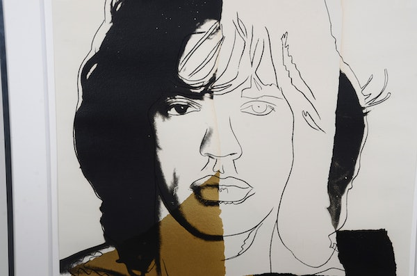 andy warhol mick jagger ii 146 original silkscreen ebth. Black Bedroom Furniture Sets. Home Design Ideas