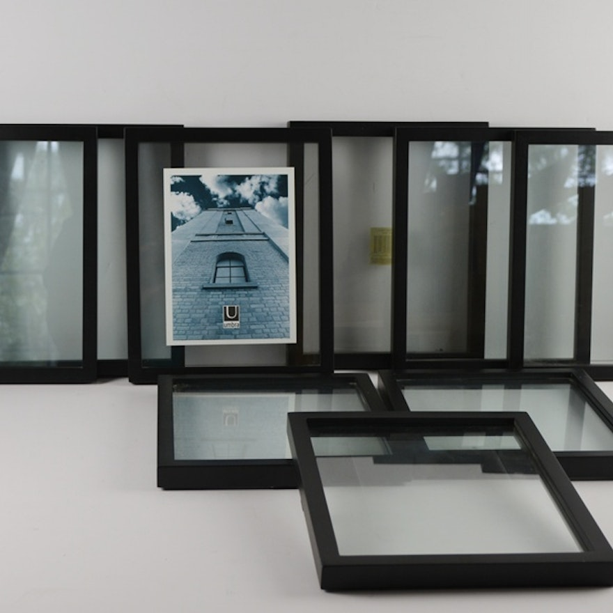 nine umbro floating image double glass with black frame - Double Glass Frame