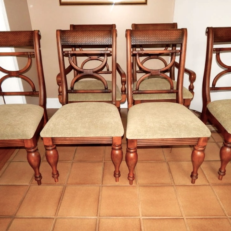 Kuliwood And Leather Chairs By Ashley