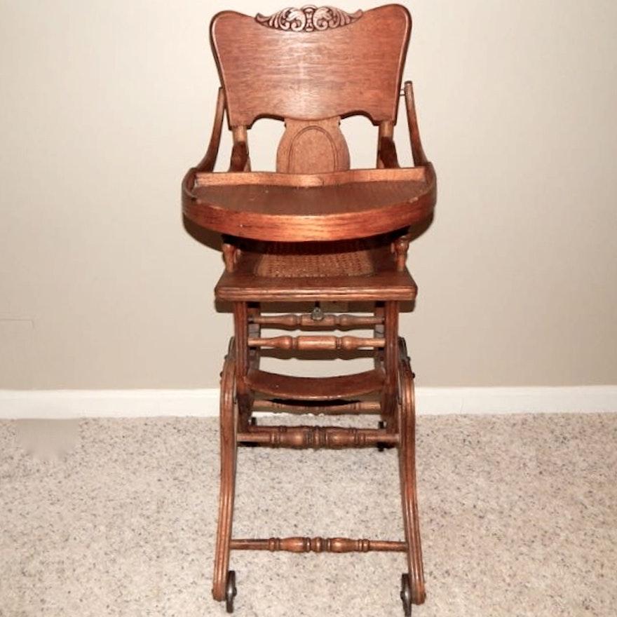 Antique High Chair/Rocker ... - Antique High Chair/Rocker : EBTH