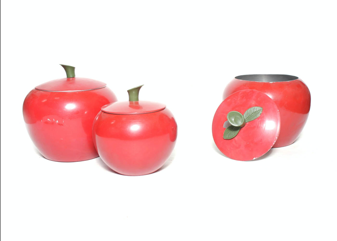 Trio of Vintage Apple Canisters : EBTH