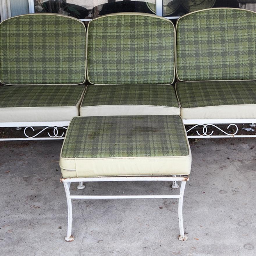 Amazing Mid Century Outdoor Loveseat And Ottoman Creativecarmelina Interior Chair Design Creativecarmelinacom