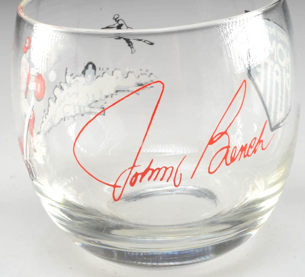 Johnny Bench Restaurant Glasses Ebth