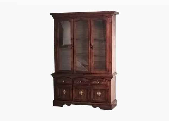 1980s Two Piece China Cabinet ...