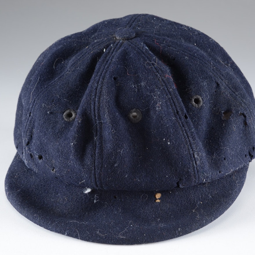 1930s 40s Wool Baseball Umpire s Blue Cap   EBTH 45914ab8b8f