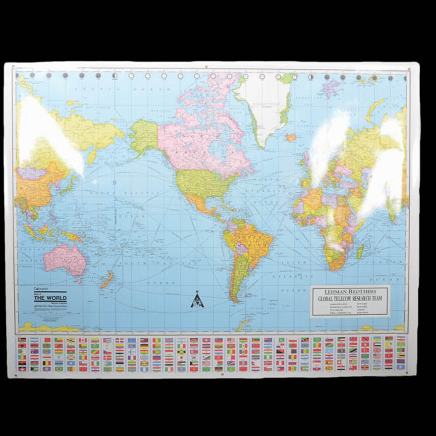 World Map by American Map Corporation : EBTH