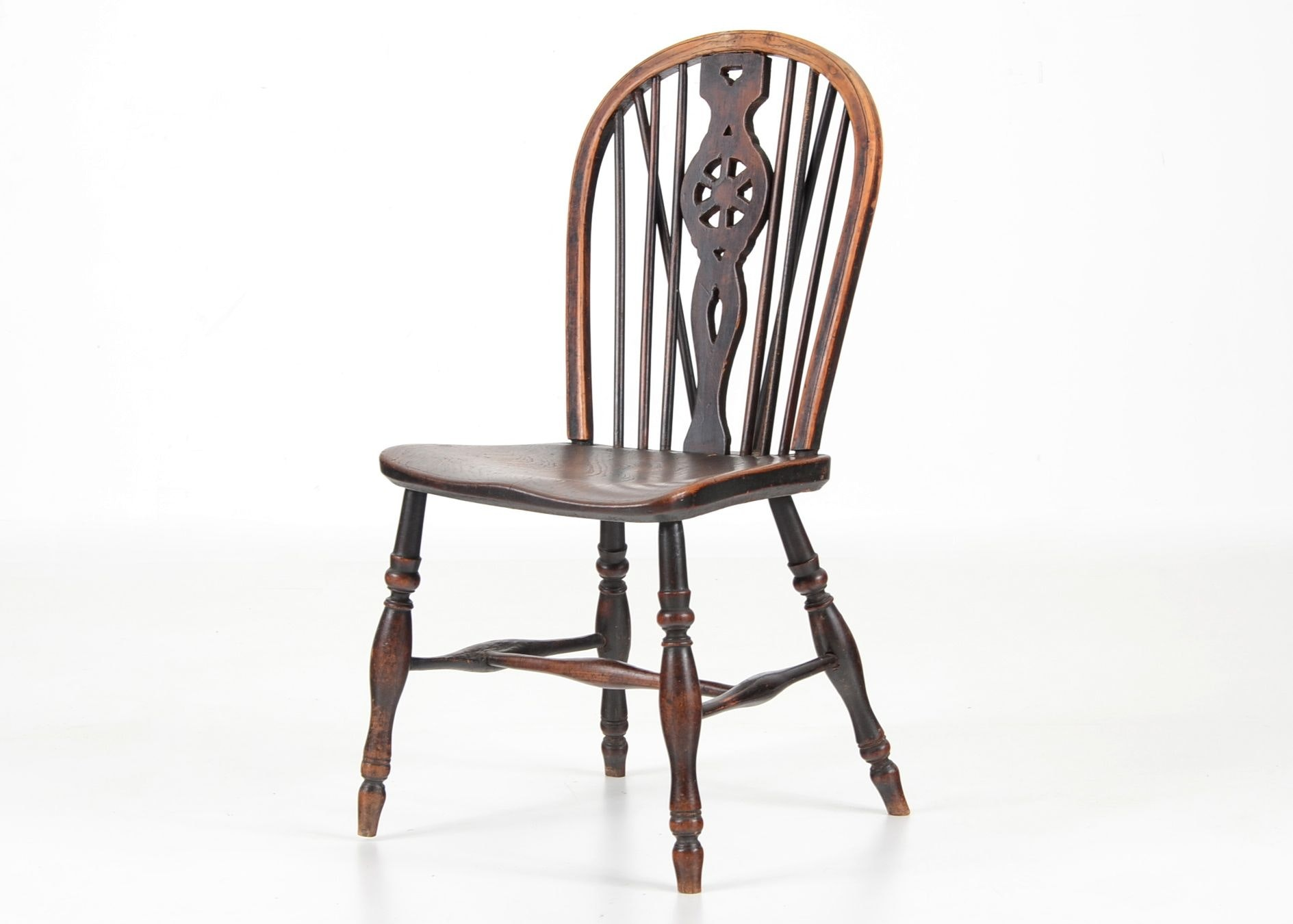 Early Wheel Back Windsor Side Chair ...